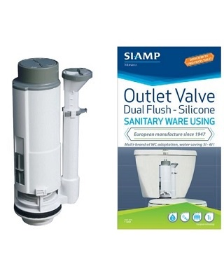 Dual Flush Outlet Silicone Valve
