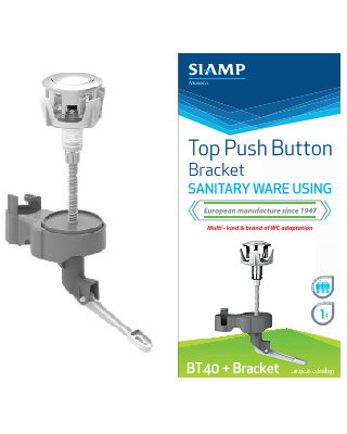 Single Push Button BT40 Bracket